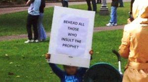 Behead the infidel