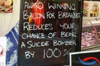 Bacon and bombs