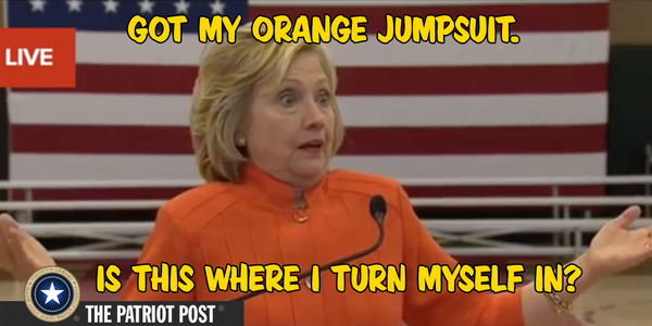 Hillary orange jump suit