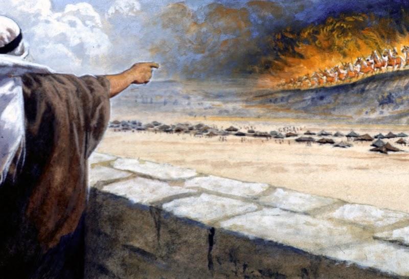 Elishas servants eyes opened to army of God