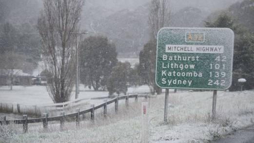 aussie towns and snow