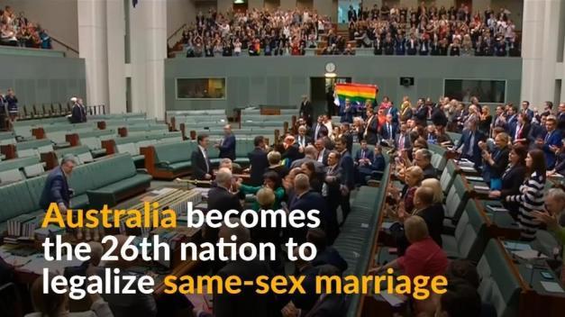Australia approves sodomite marriage