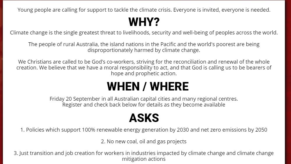 uniting church climate goalsA