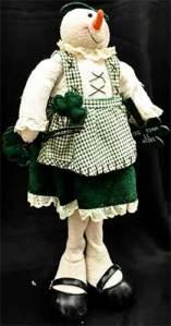 irish snowwoman stuffed